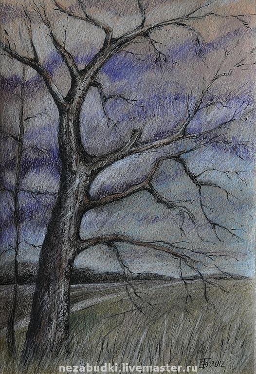 Картина «Дерево».\r\nАвторские картины. «Forget-me-not» - живопись и реставрация.  Ярмарка Мастеров.