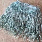 Материалы для творчества handmade. Livemaster - original item Mohair tress (turquoise) (for dolls). Handmade.