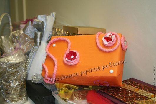 """Подарочная упаковка ручной работы. Ярмарка Мастеров - ручная работа. Купить Упаковка коробки """"Лето"""". Handmade. Упаковка подарка, подарок"""