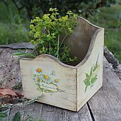 Для дома и интерьера ручной работы. Ярмарка Мастеров - ручная работа короб ромашковое лето. Handmade.