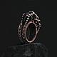 Кольца ручной работы. Кольцо Mios. GlenJan Jewelry. Ярмарка Мастеров. Медное кольцо, необычное кольцо, chainmaille, медная проволока