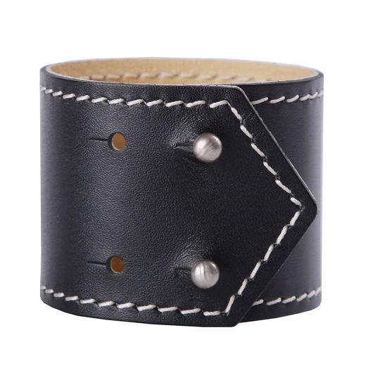 Браслеты ручной работы. Ярмарка Мастеров - ручная работа. Купить Кожаный браслет ЛАДОГА-34. Handmade. Черный, браслет из кожи