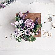 Шкатулки для колец ручной работы. Ярмарка Мастеров - ручная работа Шкатулка для обручальных колец Lavender wedding. Handmade.