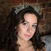 Свадебный салон handmade. Livemaster - original item The Openwork Tiara. Wedding.. Handmade.