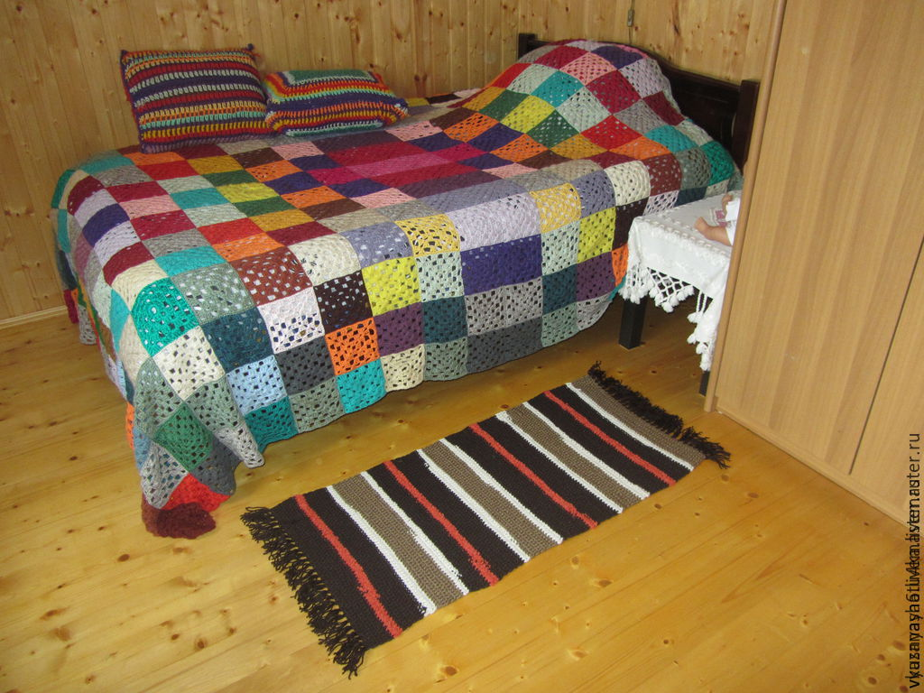 Knitted rug 'NOUGAT CHOCOLATE', Carpets, Moscow,  Фото №1