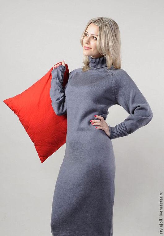 Платья ручной работы. Ярмарка Мастеров - ручная работа. Купить Платье Классика стиля. Handmade. Темно-серый, платье вязанное