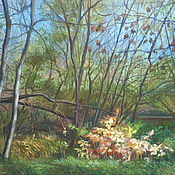 Картины ручной работы. Ярмарка Мастеров - ручная работа Осенний зеленый. Handmade.