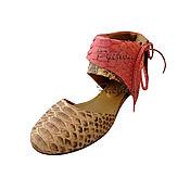 Обувь ручной работы handmade. Livemaster - original item Ballet flats from Python ILARIA. Handmade.