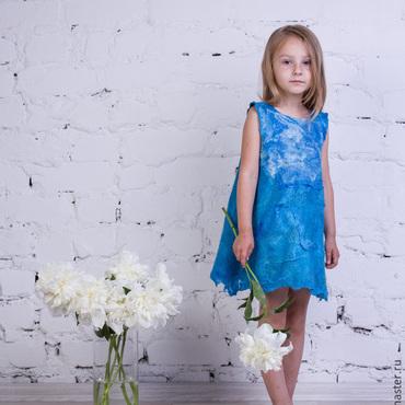 """Работы для детей, ручной работы. Ярмарка Мастеров - ручная работа Платье для девочки """"Синее море"""". Handmade."""