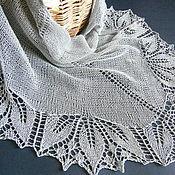 Аксессуары handmade. Livemaster - original item Summer openwork knitted shawl from cotton, shawl knitted from flax. Handmade.