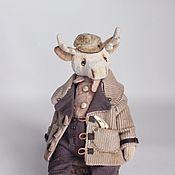 Куклы и игрушки ручной работы. Ярмарка Мастеров - ручная работа Белый лось Оливер. Handmade.
