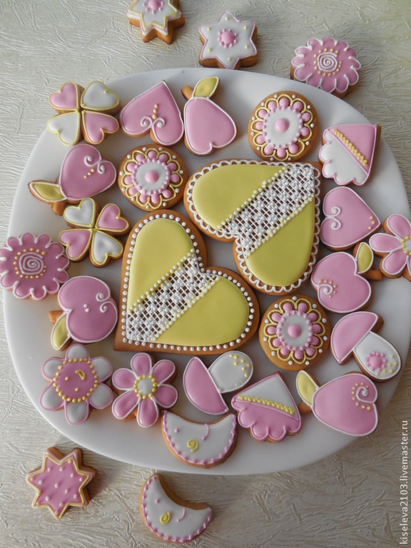 Photo Gingerbread gingerbread painted.Set of cakes for a birthday.Culinary souvenir handmade Kiseleva Natalia ,Dubna.