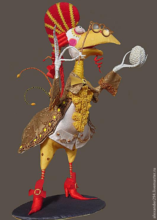 Новый год 2017 ручной работы. Ярмарка Мастеров - ручная работа. Купить Петушок-3. Handmade. Кукла, яйцо, комзол, ткань