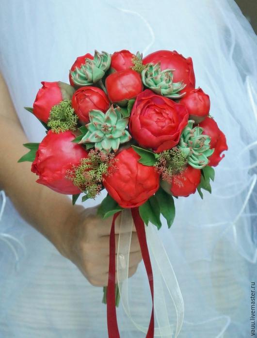 """Свадебные цветы ручной работы. Ярмарка Мастеров - ручная работа. Купить Букет невесты """"Vivid image""""- СКИДКА 30%. Handmade."""