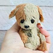 Куклы и игрушки ручной работы. Ярмарка Мастеров - ручная работа Тедди щенок МАЛЫШ Друзья тедди. Handmade.
