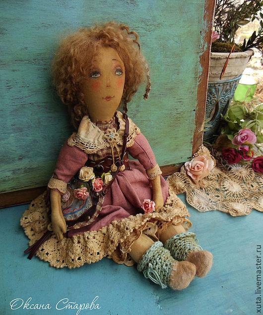 Коллекционные куклы ручной работы. Ярмарка Мастеров - ручная работа. Купить Пахнущего лета кусочек.... Handmade. Коралловый, кукла с цветами