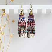 Украшения handmade. Livemaster - original item Earrings in ethnic style. earrings from polymer clay. Handmade.