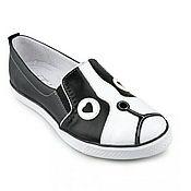 Обувь ручной работы. Ярмарка Мастеров - ручная работа Слипоны. Handmade.