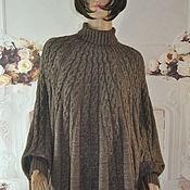 Одежда handmade. Livemaster - original item Hand-knitted poncho, oversize, half-wool.. Handmade.