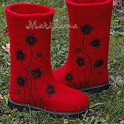 """Обувь ручной работы. Ярмарка Мастеров - ручная работа Валенки женские """"Моно-аромат"""". Handmade."""