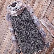 Одежда handmade. Livemaster - original item Sweater and detachable scarf