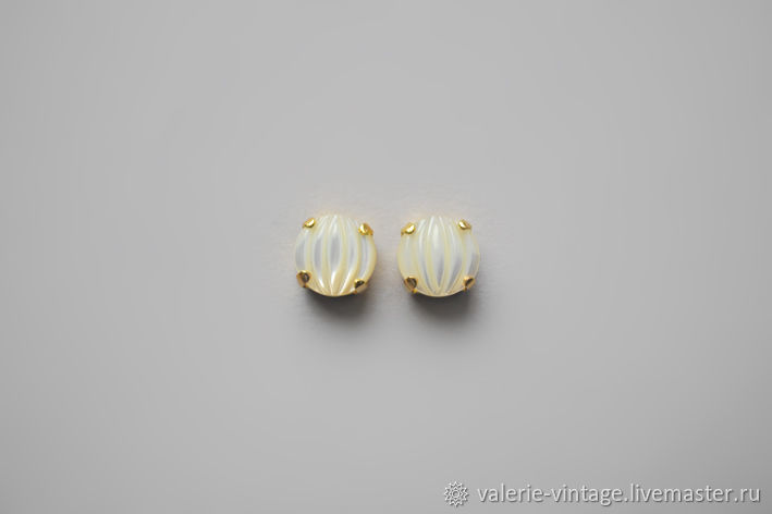 Vintage rhinestones Cream pearl 10mm, Cabochons, Moscow,  Фото №1