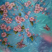 Аксессуары ручной работы. Ярмарка Мастеров - ручная работа Платок-Батик``Дыхание весны``. Handmade.