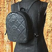Сумки и аксессуары handmade. Livemaster - original item CINELLE Python Leather Backpack. Handmade.