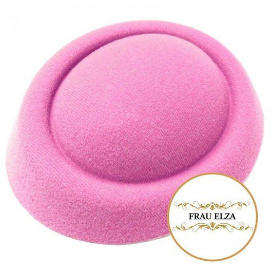 Шитье ручной работы. Ярмарка Мастеров - ручная работа. Купить Основа для шляпки из фетра - розовая. Handmade. Основа для шляпки