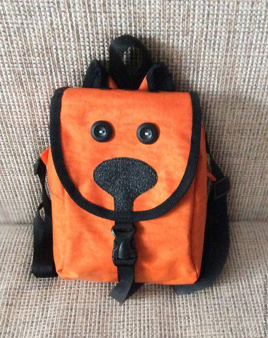 Рюкзаки ручной работы. Ярмарка Мастеров - ручная работа. Купить Рюкзак детский Котик на молнии. Handmade. Рыжий, рюкзачок, оранжевый