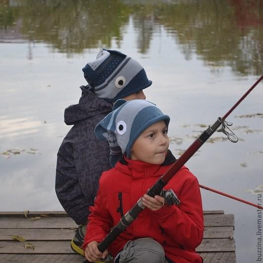 Шапка для мальчика, шапка рыба, шапка вязаная, вязаная шапка, детская шапка, шапка для ребенка, шапочка для мальчика, шапка рыбка, подарок для рыбака, шапка для мужчины, подарок для мужчины.