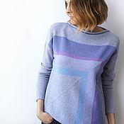 Одежда handmade. Livemaster - original item The cashmere sweater Geometry. Handmade.