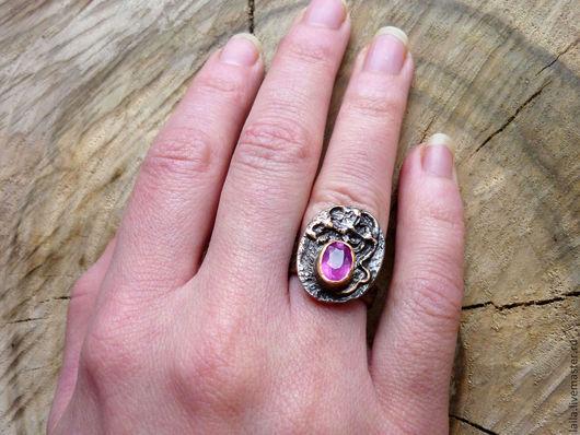 """Кольца ручной работы. Ярмарка Мастеров - ручная работа. Купить кольцо""""Royal"""". Handmade. Фуксия, рубин, медь"""
