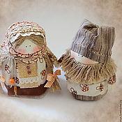 """Куклы и игрушки ручной работы. Ярмарка Мастеров - ручная работа Богач и Крупеничка """" За грибочками"""". Handmade."""