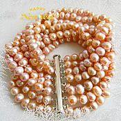 Украшения handmade. Livemaster - original item Bracelet Lavender-pearl Baroque. Freshwater pearl overflow. Handmade.