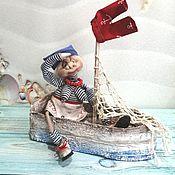 """Куклы и пупсы ручной работы. Ярмарка Мастеров - ручная работа Кукла коллекционная текстильная интерьерная  """"Морячка Соня"""". Handmade."""