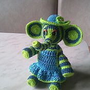 Куклы и игрушки ручной работы. Ярмарка Мастеров - ручная работа вязаная игрушка Слонечка. Handmade.