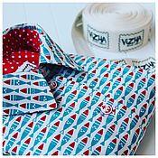 Одежда ручной работы. Ярмарка Мастеров - ручная работа Рубашка с бирюзовыми рыбками. Handmade.