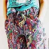 Одежда ручной работы. Ярмарка Мастеров - ручная работа Цветные штаны. Handmade.