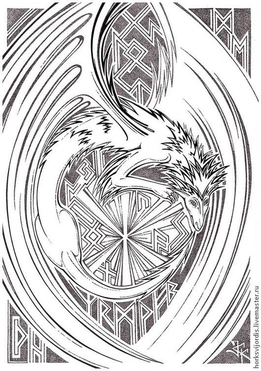 Символизм ручной работы. Ярмарка Мастеров - ручная работа. Купить Футарк. Handmade. Руны, рунический амулет, руника, скандинавский стиль