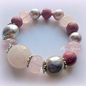 Украшения handmade. Livemaster - original item Gentle set silver bracelet and earrings. Handmade.