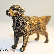 Для дома и интерьера ручной работы. Ярмарка Мастеров - ручная работа ЗОЛОТИСТЫЙ РЕТРИВЕР - статуэтка (оловянная миниатюрная фигурка собаки. Handmade.