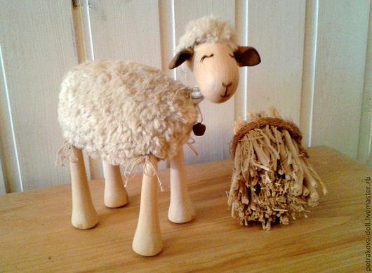 Развивающие игрушки ручной работы. Ярмарка Мастеров - ручная работа. Купить Овечки-марионетки. Handmade. Оранжевый, липа, вискоза