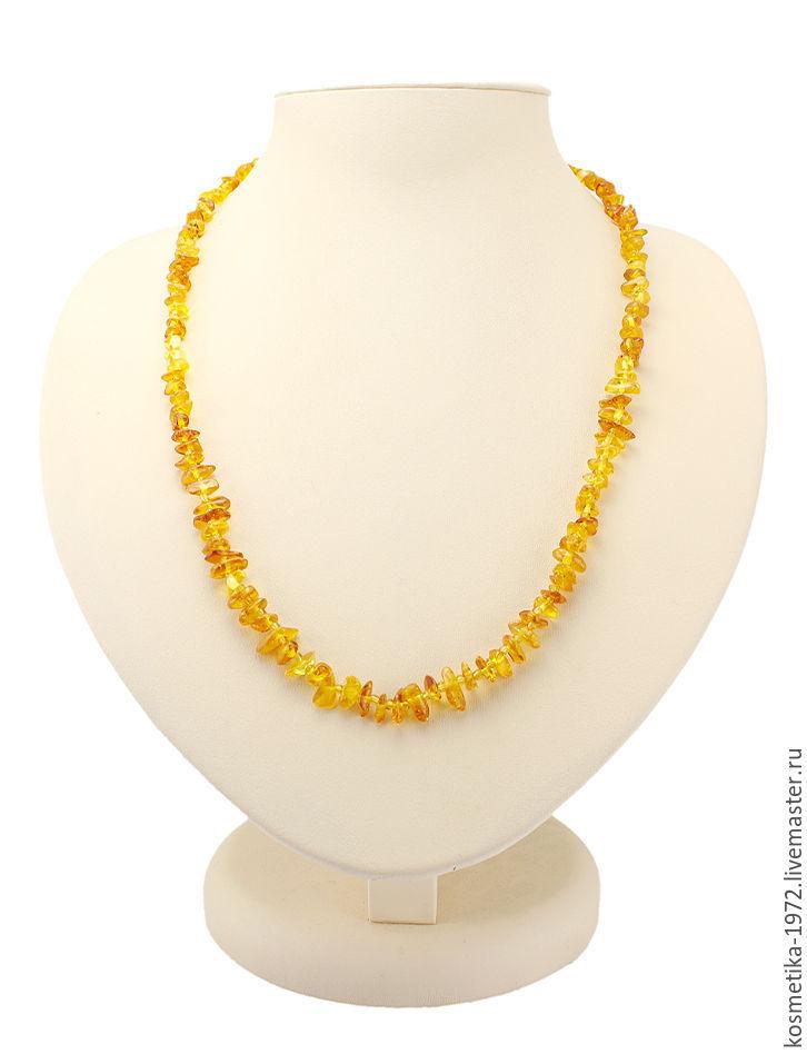 Beads Honey amber natural stone amber decoration yellow, Beads2, Kaliningrad,  Фото №1