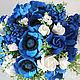 Букеты ручной работы. Ярмарка Мастеров - ручная работа. Купить Букет из синих цветов. Handmade. Синие цветы, цветы из полимерной