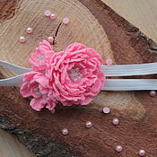Работы для детей, ручной работы. Ярмарка Мастеров - ручная работа Повязка для волос, ярко розовая. Handmade.