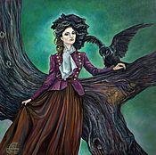 Картины и панно handmade. Livemaster - original item Oil painting on canvas Forest fairy. Handmade.