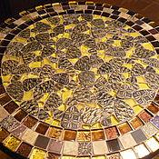 Для дома и интерьера handmade. Livemaster - original item Wrought iron table with mosaic