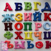 Куклы и игрушки ручной работы. Ярмарка Мастеров - ручная работа Алфавит из фетра (на магнитах). Handmade.
