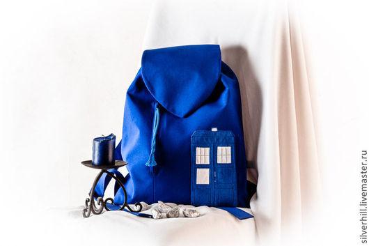 """Рюкзаки ручной работы. Ярмарка Мастеров - ручная работа. Купить Рюкзак """"Тардис"""". Handmade. Рюкзак, рюкзак для девушки, doctor who"""
